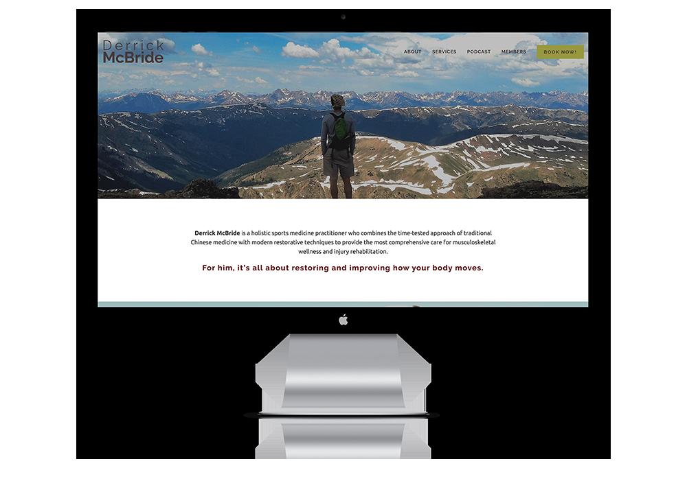 Website for Derrick McBride