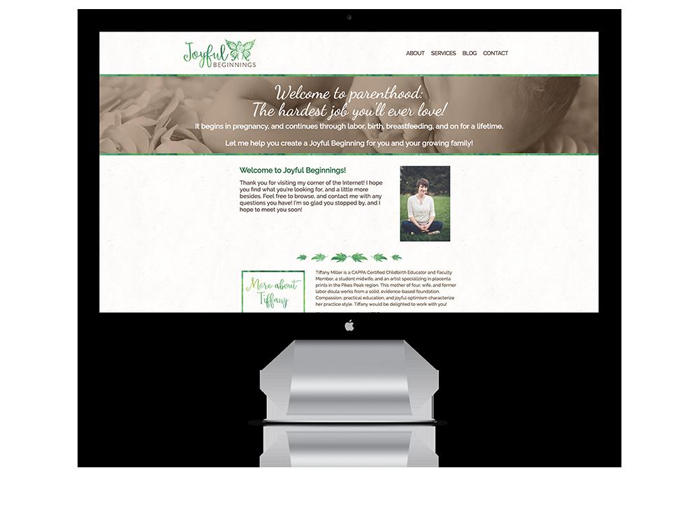 Website for Joyful Beginnings