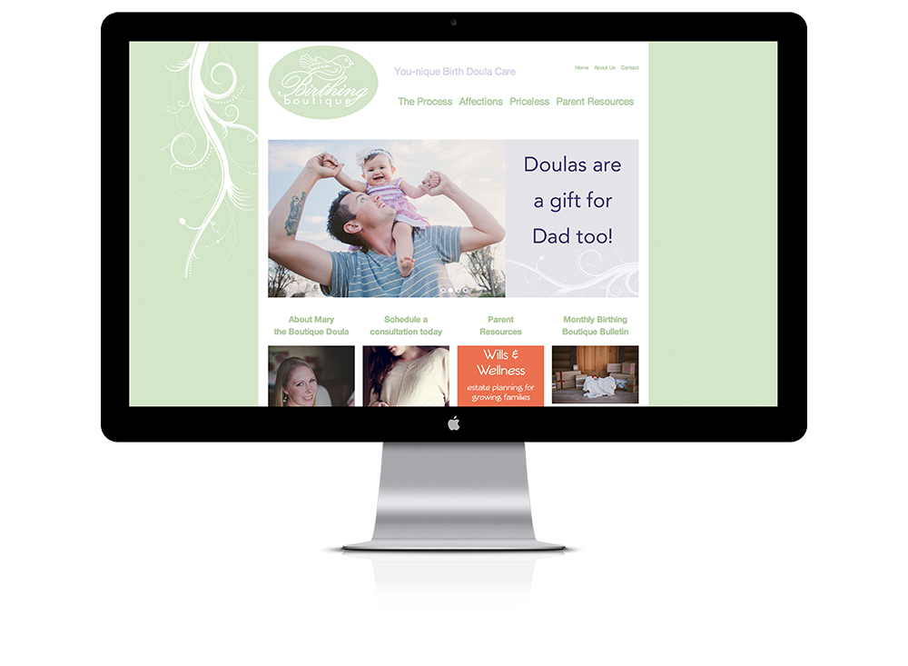 Website for Birthing Boutique