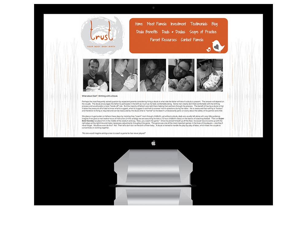 Website for Trust Body Baby Birth